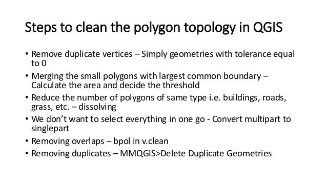 Topology Errors and Cleaning