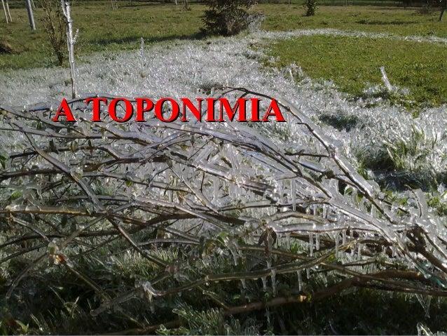 A TOPONIMIA