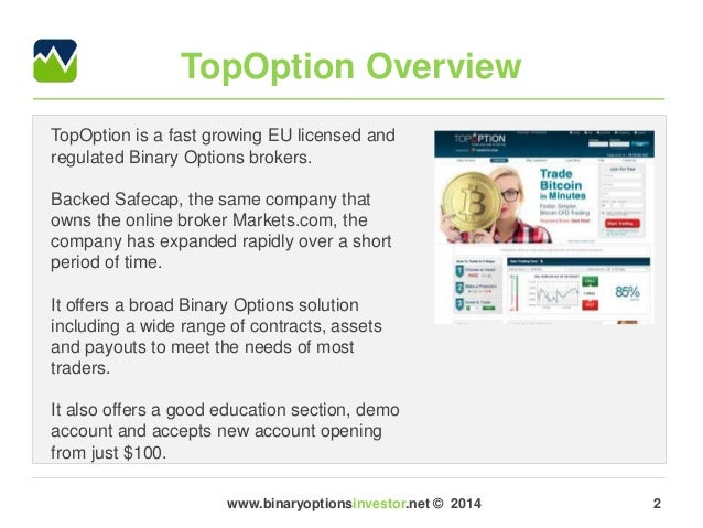 Online options brokers comparison