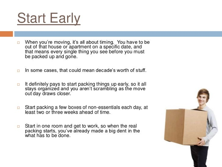 packing checklist for moving