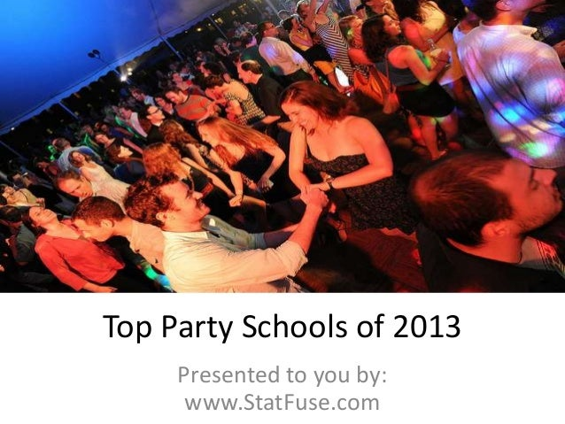 Top Party Schools of 2013 Presented to you by: www.StatFuse.com