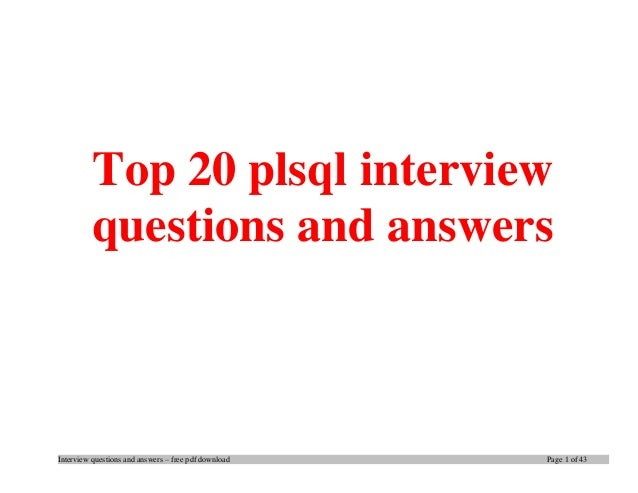 oracle sql interview questions and answers for freshers pdf