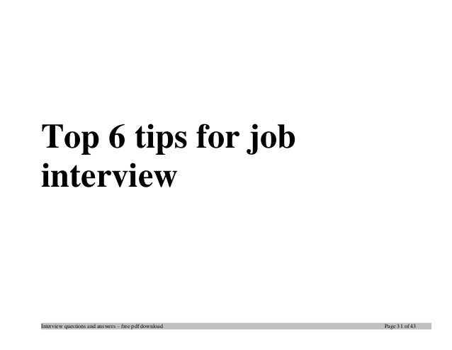 Top plsql interview questions and answers job interview tips