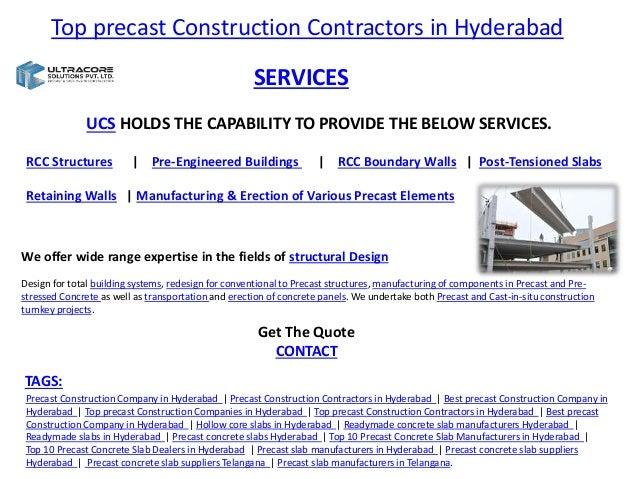 Top precast construction contractors in hyderabad