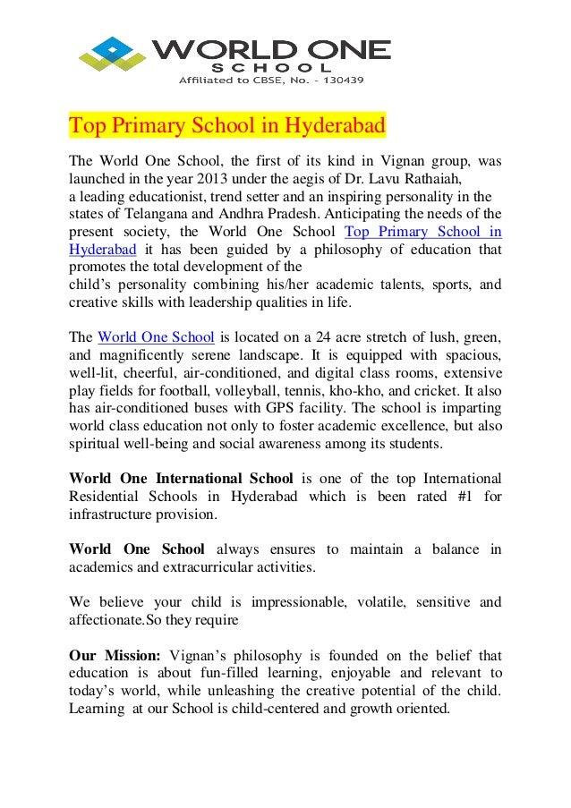 Top primary school in hyderabad