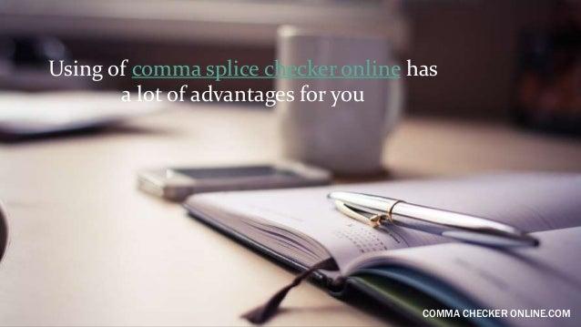 comma splice checker