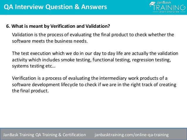 qa interview question answers - Qa Interview Questions And Answers Quality Assurance Interview