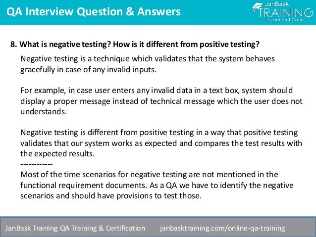 Scenario Based Software Testing Interview Questions And