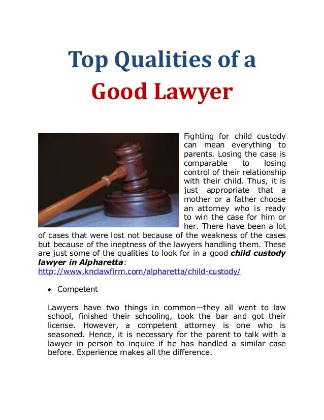 top qualities of a good lawyer