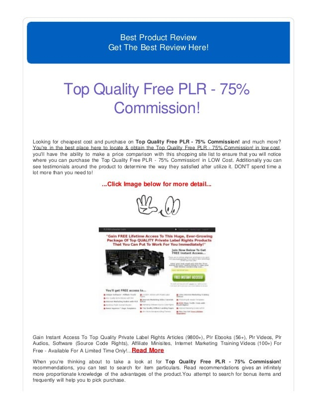 free plr videos and software