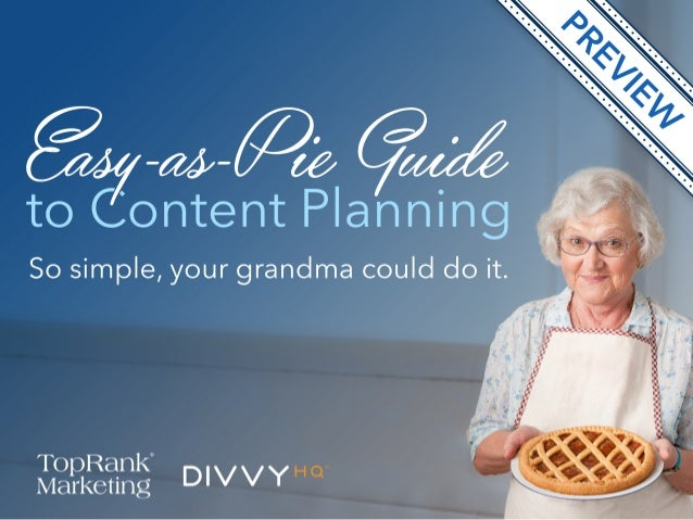 [eBook] Easy-as-Pie Content Planning