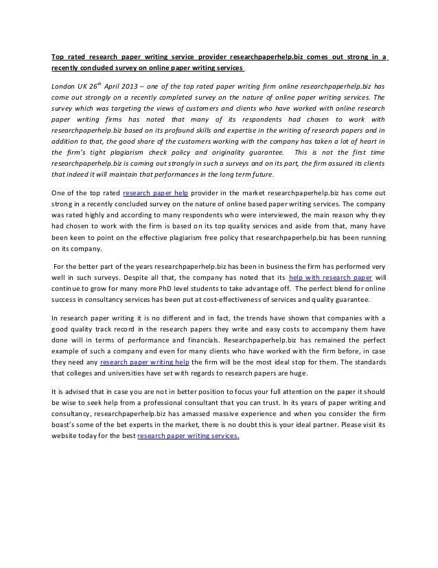 Write graduate research paper