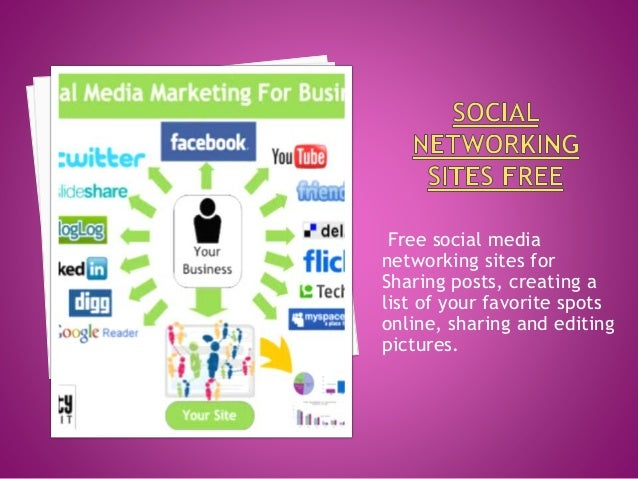 Free social media networking sites for Sharing posts, creating a list of your favorite spots online, sharing and editing p...
