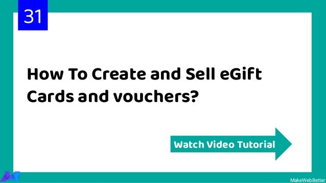 How To Create and Sell eGift Cards and vouchers? MakeWebBetter Watch Video Tutorial 31