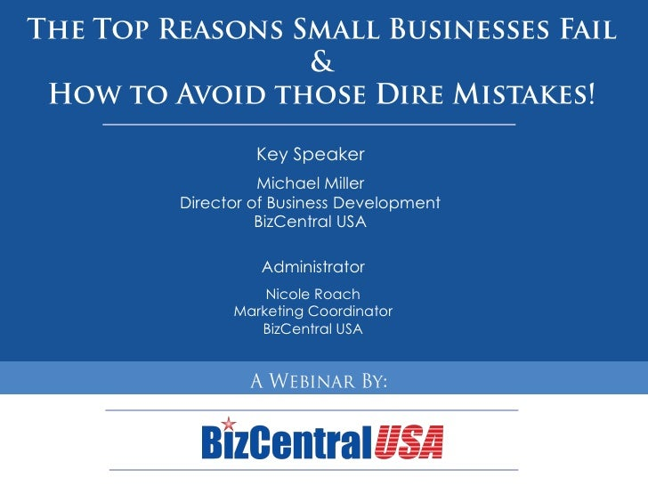Key Speaker           Michael Miller Director of Business Development           BizCentral USA            Administrator   ...