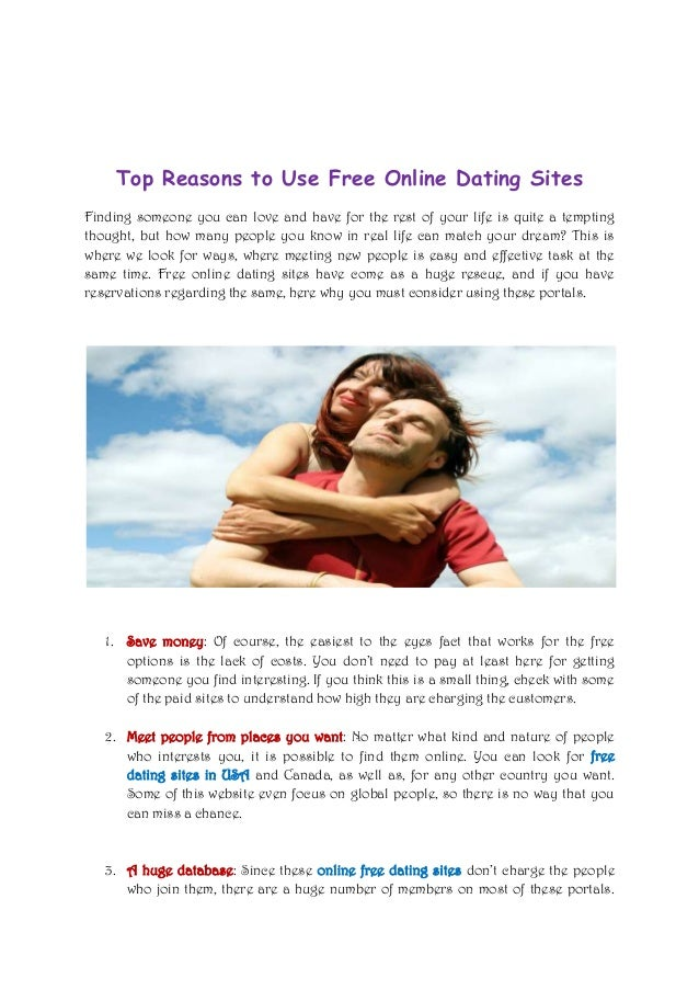 Reasons to join online dating