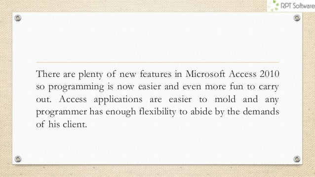 Top Reasons Why Developers Choose Microsoft Access