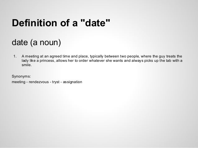 What is dating someone definition