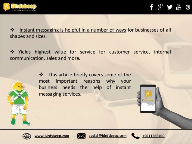 Instant Messages For Business : Top reasons why you should use instant messaging for business