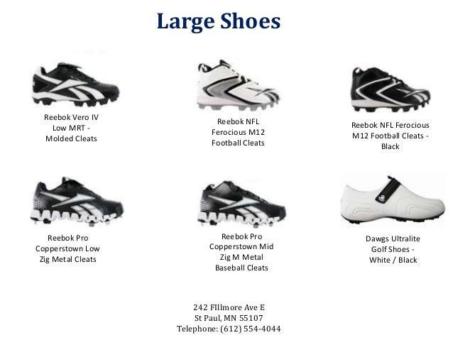 d703034ba4518d ... 5. Large Shoes Reebok Vero IV Low MRT - Molded Cleats Reebok NFL  Ferocious M12 Football ...