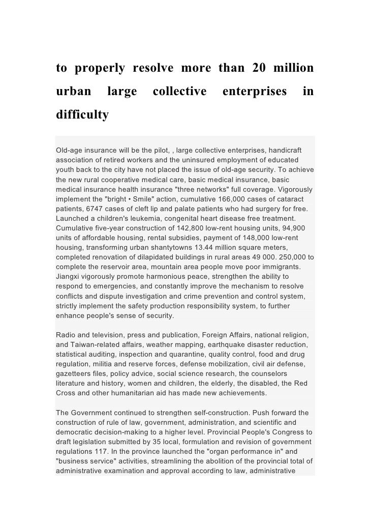 to properly resolve more than 20 millionurban           large          collective             enterprises               in...