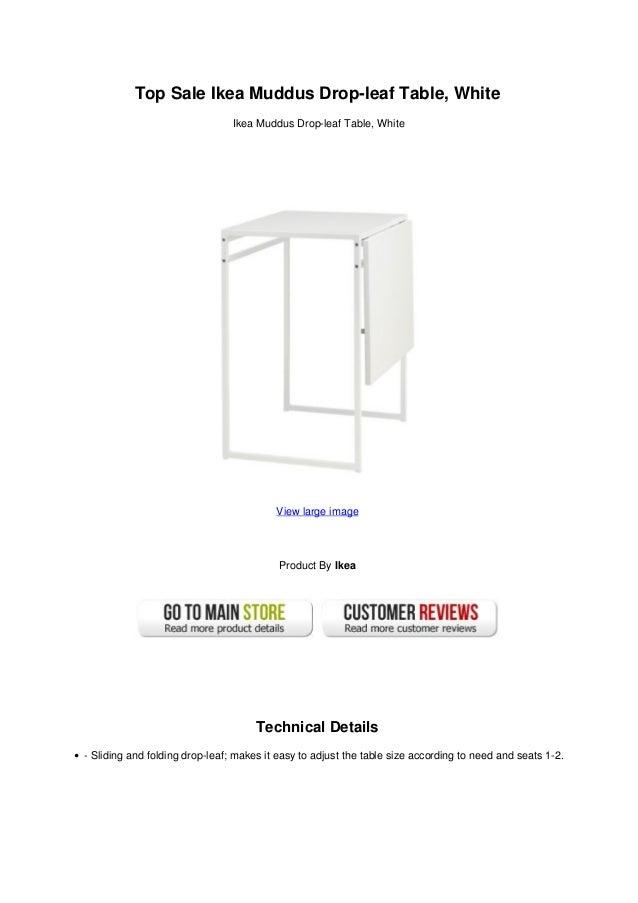 Top Sale Ikea Muddus Drop Leaf Table, WhiteIkea Muddus Drop Leaf Table, ...