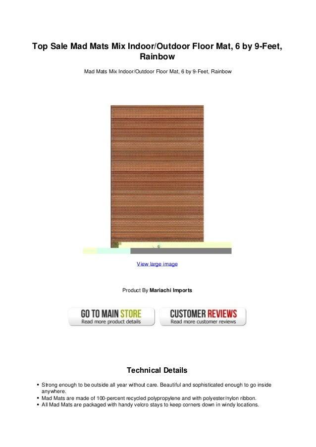 0279a30ee255 Top sale mad mats mix indoor outdoor floor mat 6 by 9 feet rainbow