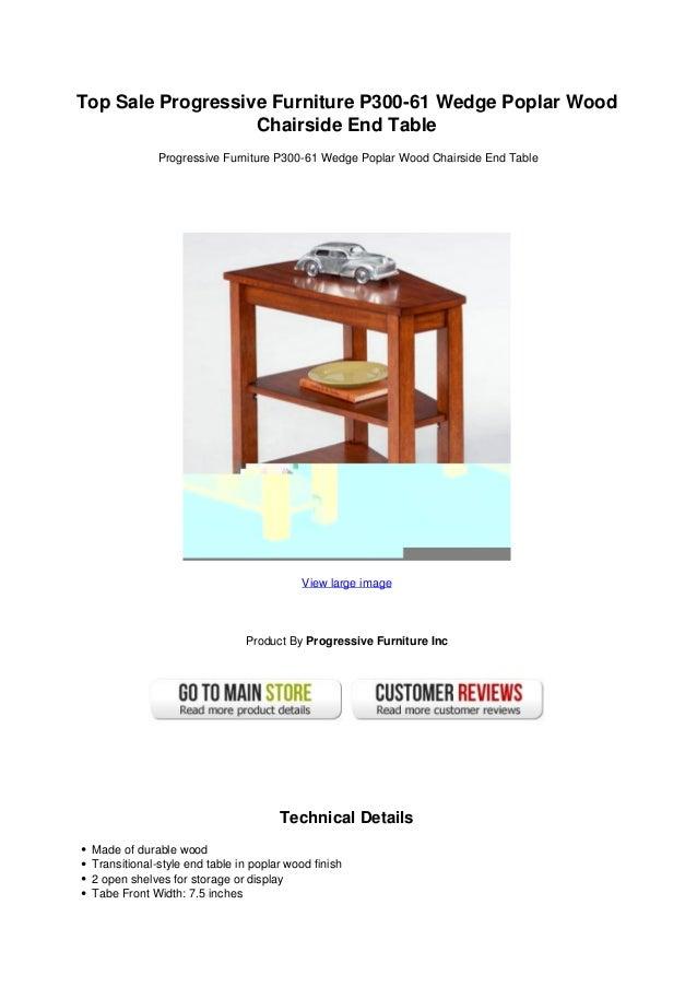 Top Sale Progressive Furniture P300 61 Wedge Poplar Wood Chairside End Table
