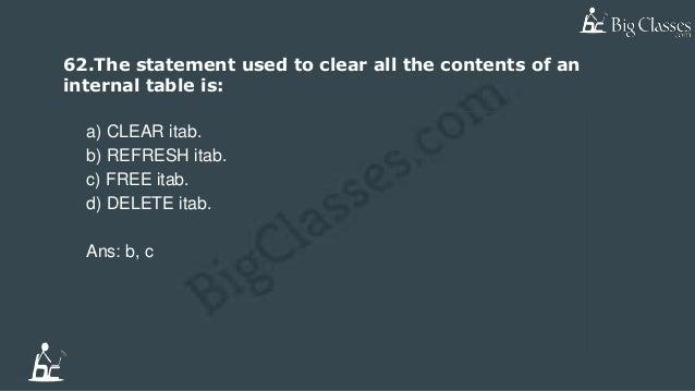 Top 10 sap abap faqs-www bigclasses com