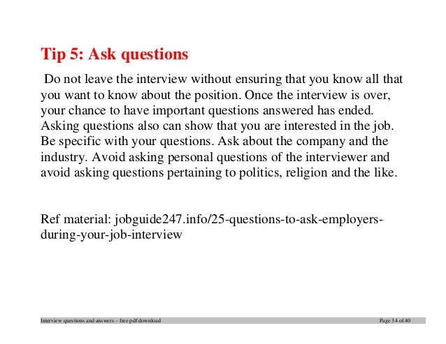 Top sap interview questions and answers job interview tips