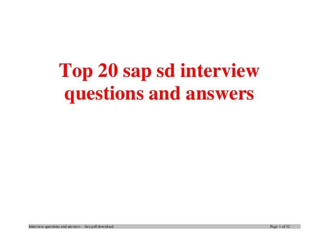 top 20 sap sd interview questions and answers pdf ebook free download rh slideshare net SAP Manual PDF SAP Manual PDF