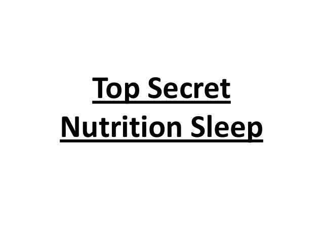 Top Secret Nutrition Sleep