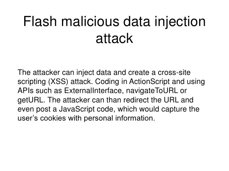Top security threats to Flash/Flex applications and how to
