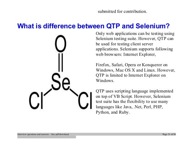 Top 20 Selenium Interview Questions And Answers Pdf Ebook Free Downlo
