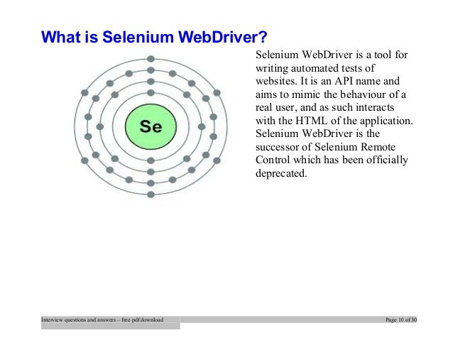 Top selenium interview questions and answers job interview