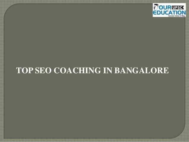 TOP SEO COACHING IN BANGALORE