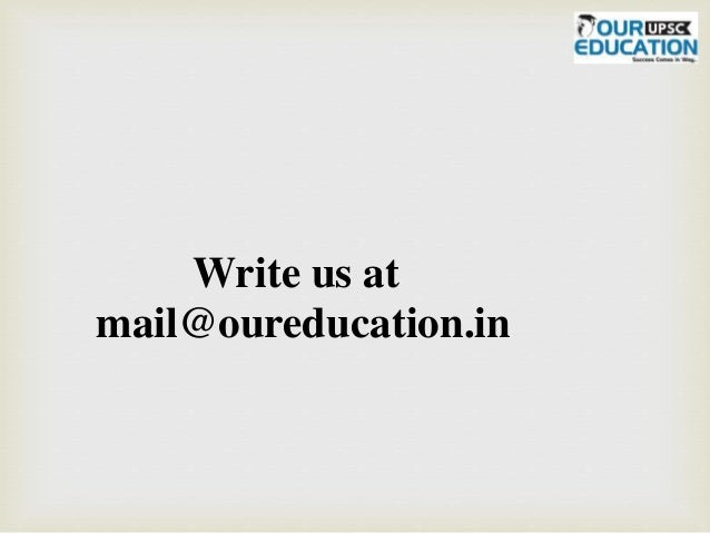 Write us at mail@oureducation.in