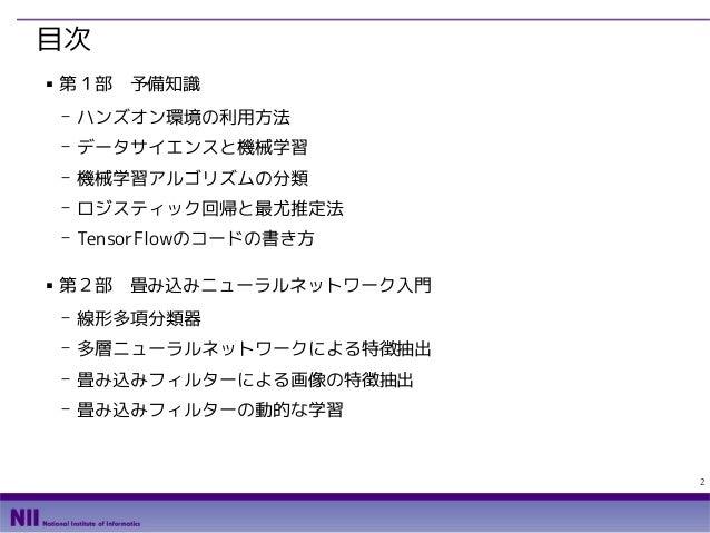 TensorFlowによるニューラルネットワーク入門 Slide 2