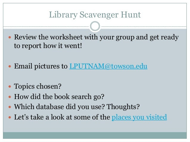 TOPS Fall 2017 – Library Scavenger Hunt Worksheet