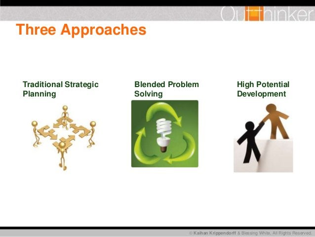 Kaihan Krippendorff & Blessing White, All Rights Reserved. Three Approaches Traditional Strategic Planning Blended Probl...