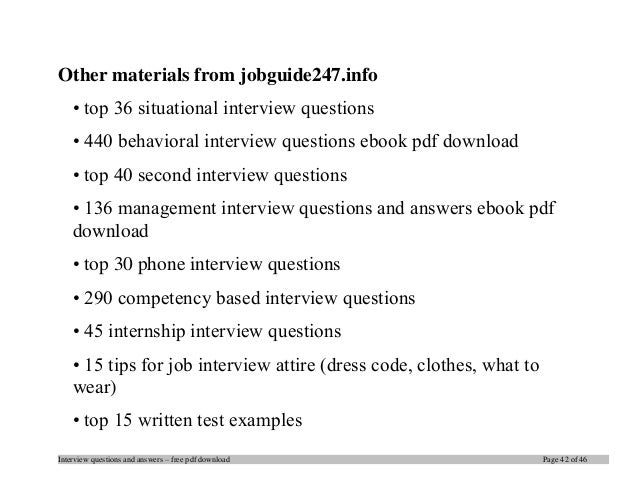 interview questions and answers - Situational Interview Questions And Answers