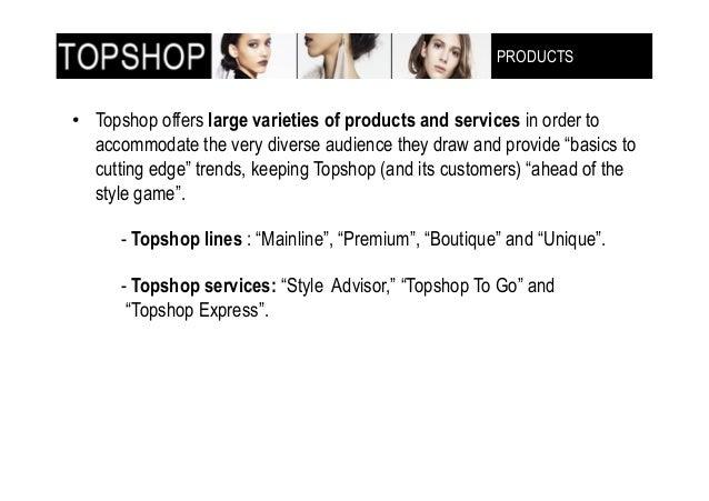 topshop demographics