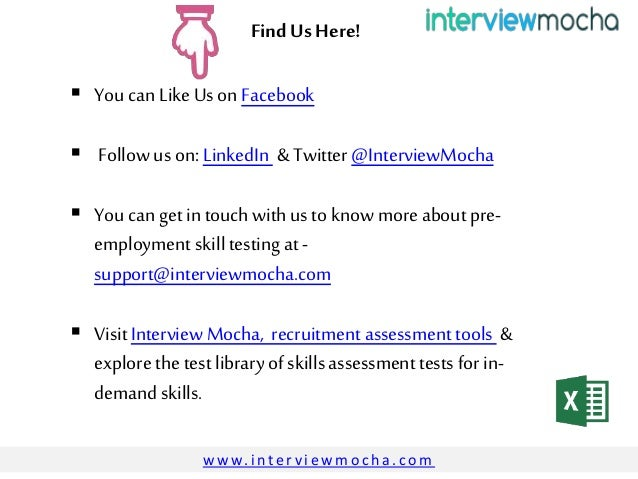 Excel Assessment Test For Interview