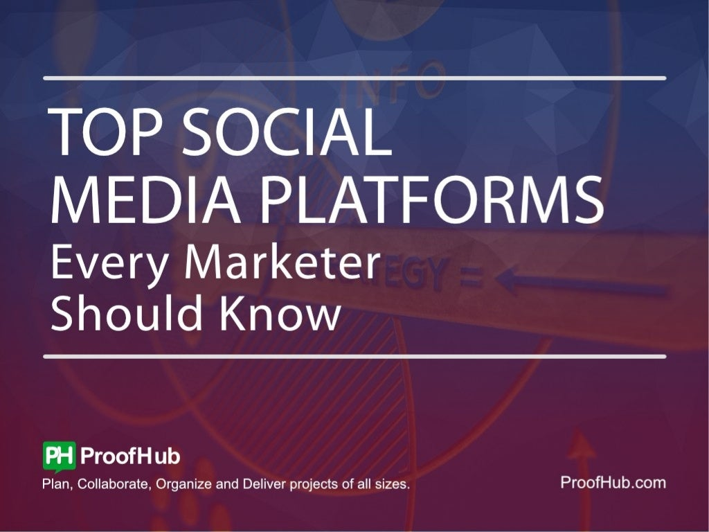 Top social media platforms every marketer should know