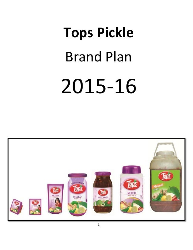 pickle business plan This new-age family business was established and is run by pinank b  hence  we laid down a plan, defined tgs, started branding exercise,.