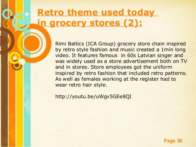 Retail and food marketing retro style 30 free powerpoint templates page 30 retro theme used today in grocery toneelgroepblik Gallery