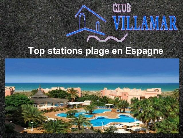 Top stations plage en Espagne