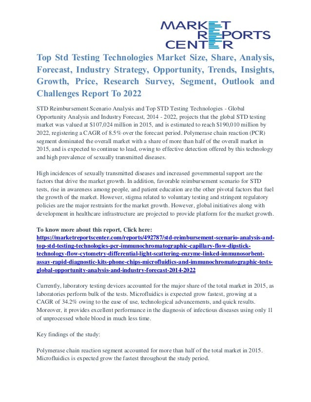 Top Std Testing Technologies Market Share, Size, Emerging Trends and …