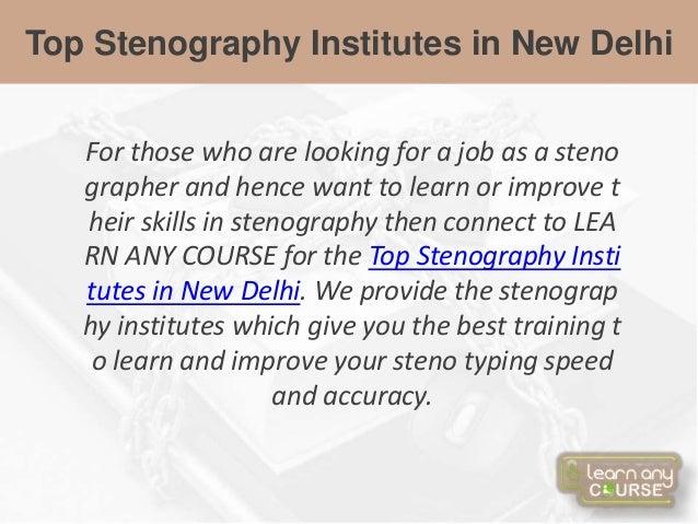 Top Stenography Institutes in New Delhi