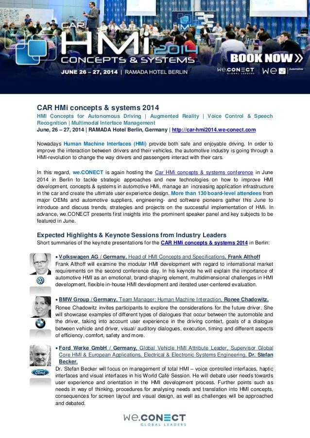 CAR HMi concepts & systems 2014 HMI Concepts for Autonomous Driving   Augmented Reality   Voice Control & Speech Recogniti...